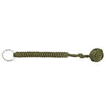 Pro Monkey Fist Self Defense Emergency Protection Paracord Steel Ball Keychain Army Green