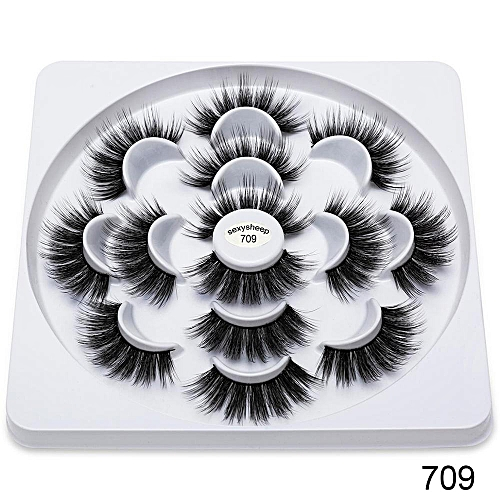 4/7Pairs 3D Eyelashes Hand Made Natural Long Faux Mink Lashes High Quality  False Lashes Extensions Maquiagem Women Makeup Tool(709)