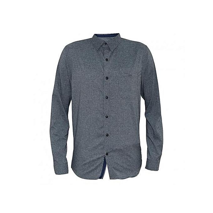 Grey Men's Long Sleeved Casual Shirts