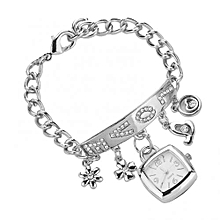 Silver Beautiful Love Watch Chain Bracelet