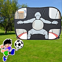 Kids Foldable Football Goal Portable Shot Target 2 In 1 Dual-Use Net Door Gate