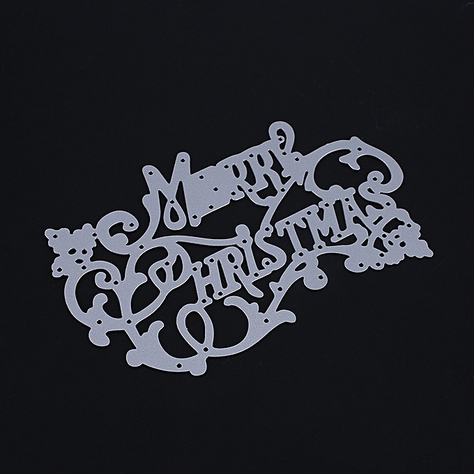 ... Metal Merry Christmas Letter Cutting Dies Stencil Cards Embossing Mould