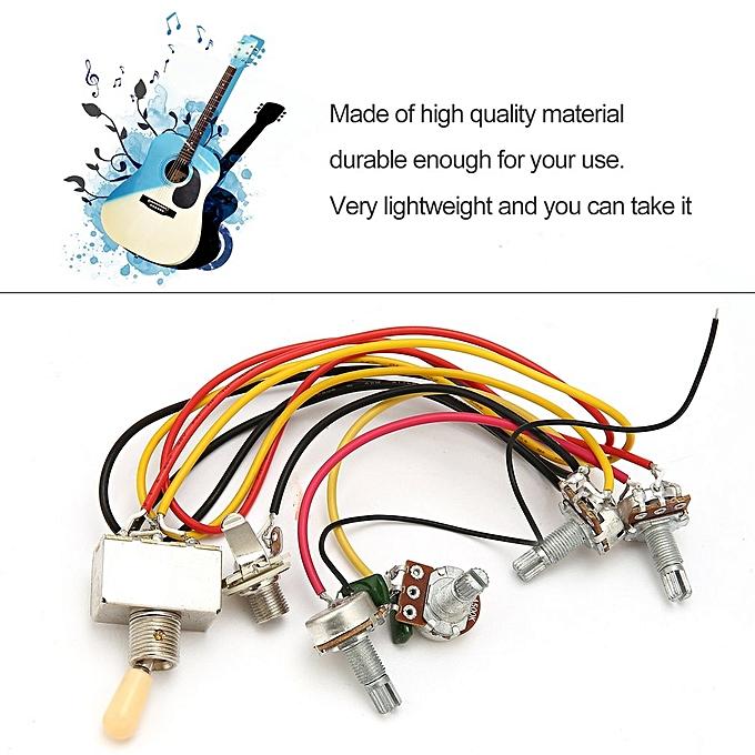1 full set lp sg electric guitar pickup wiring harness potentiometers  kit