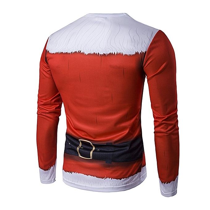 b11534dfc965 Fashion Leadsmart Crew Neck 3D Father Christmas Costume Print T-Shirt