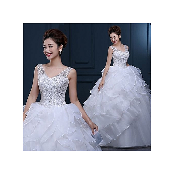 Fashion Bride Romantic Pure Love Lace Wedding Party Virginal White