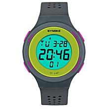 Hiamok_SYNOKE Multi-Function 50M Waterproof Watch LED Digital Double Action Watch