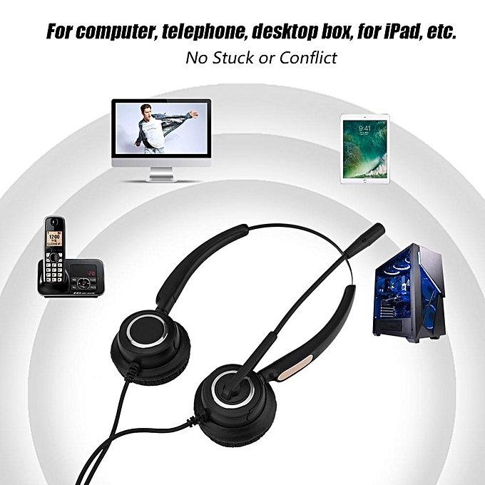 Headset with Microphone Call Center USB Headset Light Weight Noise  Cancelling USB Call Center Headset with Microphone