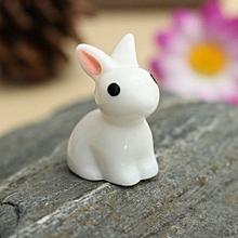 Miniature Rabbits Fairy Garden Terrarium Figurine Decor DIY Bonsai Craft