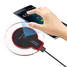 Qi Enabled Devices Transparent Border Wireless Charger Phone Mount Charging Pad