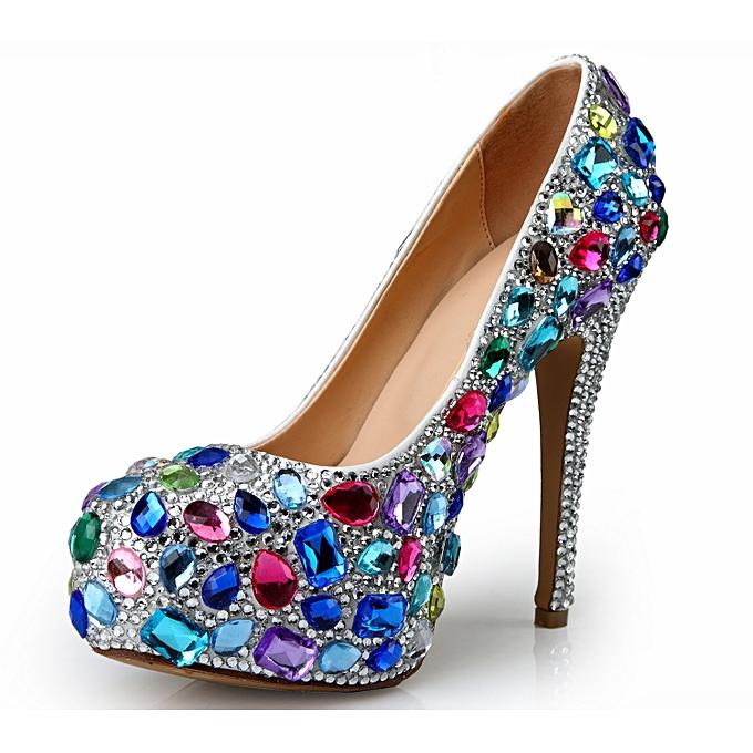 f9a374bdd Generic Elegant Rhinestone Ladies Pumps Evening Ladies Shoes   Best ...