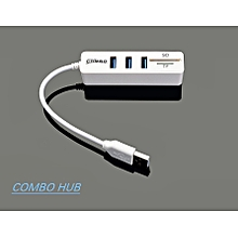 Band New Mini USB 2.0 HUB SD And TF Multi-card Reader Exclusive Plug Home Wall Socket Power Adapter White