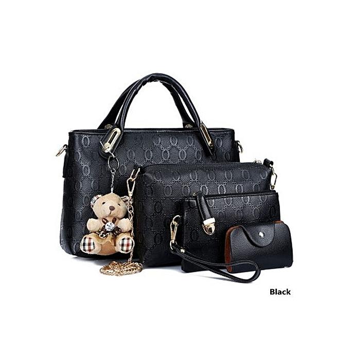 Womens Elegant Fashion Four Piece Suit Bags Classic Handbag Messenger Bag Small
