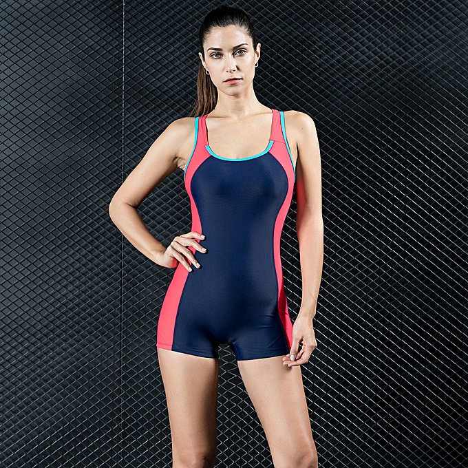 22931f388af Women Sports One Piece Swimsuit Swimwear Shorts Backless Bathing Suit  Swimming Suit Blue/Red/