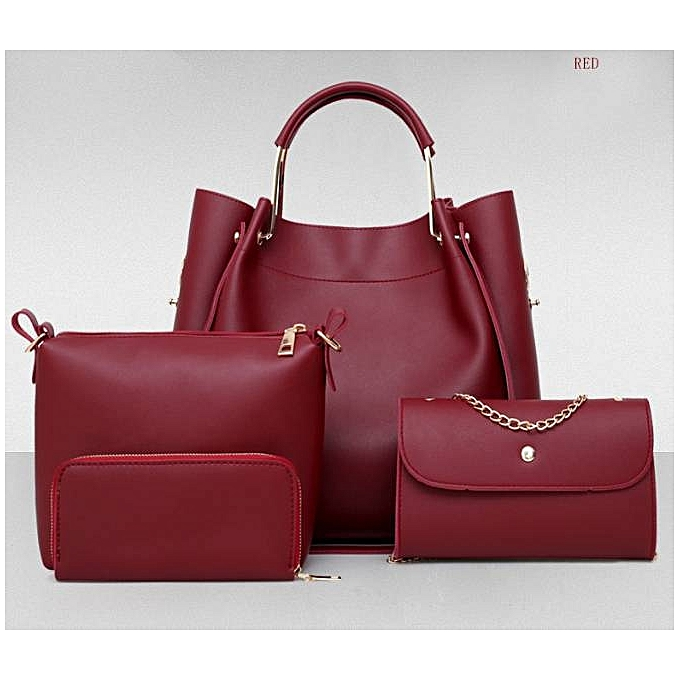... singedanfour set handbag shoulder bags four pieces tote bag crossbody  wallet rd red. 4 In 1 Clic Las Handbags. Generic 4 In 1 Clic Las Handbags  Best ... 0f46096157