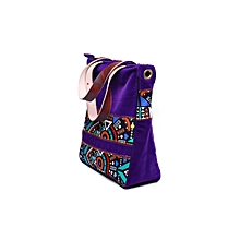 Multicolor ToteBag for  Women 15.6 Inch Laptop Bag Notebook Shoulder Bag Lightweight Multi-pocket Suede Casual Handbag (purple)