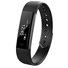 ID115 Smart Wristband  Fitness Heart Rate Monitor Black