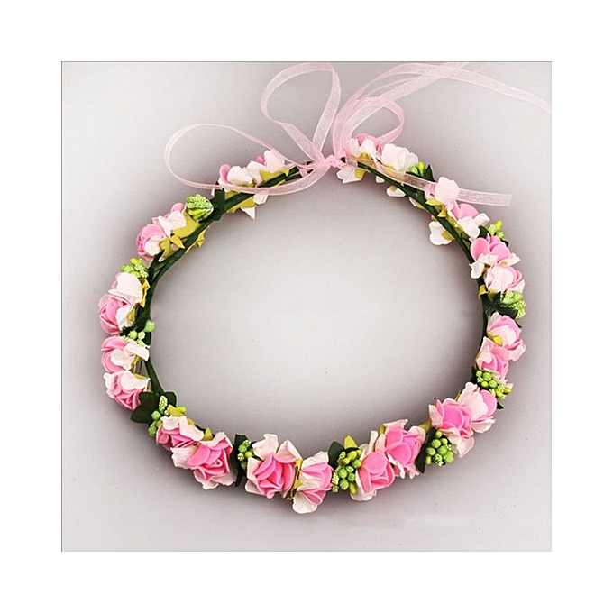 Generic Bridal Wreath Flower Headband Hair Band Floral Crown Garland