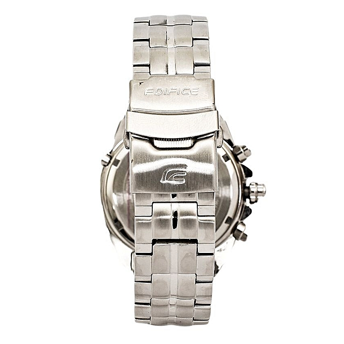 514c03824c4 ... Silver with Blue Black Dial EF 130D 1A2V Stainless Steel Strap Watch ...