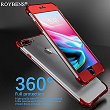 For IPhone 7 8 Case Roybens Luxury Cover For IPhone 8 7 Plus Transparent Silicone Case PC Front TPU Clear Soft 360 Degree Cases