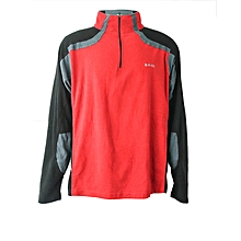 Jacket Etan Microfleeces Men- Dk Red/Dk Grey/Black- 2xl