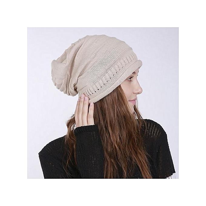 ef56ef35102 Wenrenmok Store Men s Women s Knit Baggy Beanie Solid Fashion Winter Hat Ski  Slouchy Chic Cap-