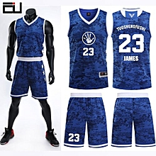 Team And Number Customized Students Men's Basketball Sport Jersey-Blue(JL-824)