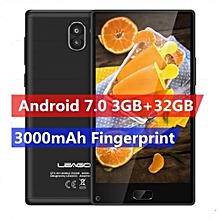 """Kiicaa MIX - 5.5"""" 4G Android 7.0 3GB/32GB Fingerprint G-Sensor EU - Black"""