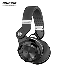 Bluedio T2S Bluetooth Headphones with Mic (Black)
