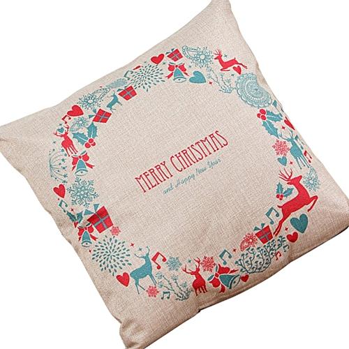 Christmas Pillows.Christmas Pillows Cover Decor Christmas Pillow Cases Linen Sofa Pillow Cover Multicolor Christmas Bell