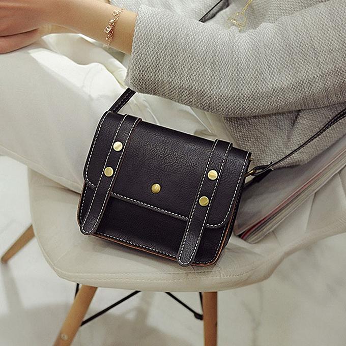 8c93da2732 Africanmall store Women Leather Shoulder Bag Handbag Messenger Hobo Bag  Satchel Purse Tote Black-Black