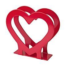 Napkin Holder, Heart Red
