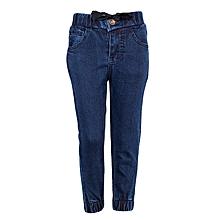 Blue Girls Carrot Jeans