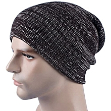Mens Cashmere Winter Crochet Hat Ski Knit  Warm Cap