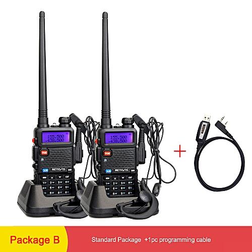 2pcs RT5R Portable Walkie Talkie 5W VHF UHF Dual Band Two Way Radio  Communicator VOX FM Radio Transceiver Walkie-Talkies HIVMD