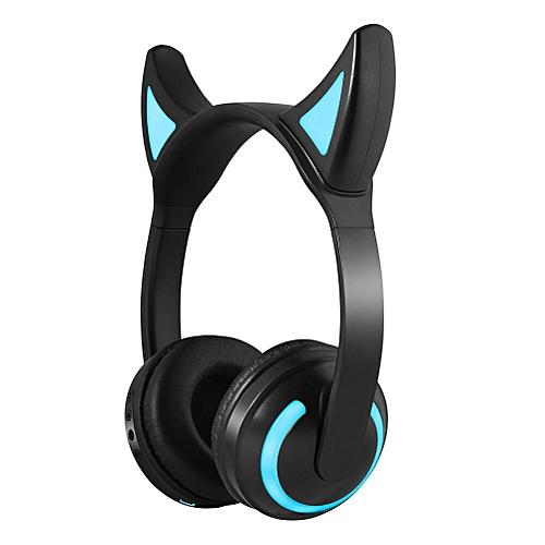 77caafd254b Generic Newly Kids Wireless Cat Ear Headphones Glow Earphone Mic Game  Bluetooth Headset Christmas Gifts(Demon Ears)