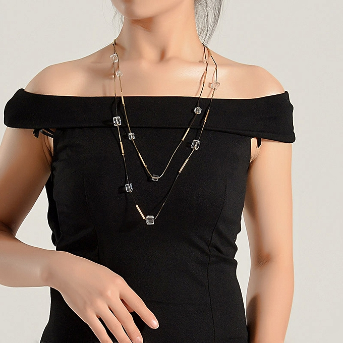 1e6a09c2c7b450 Fashion Han Ban s vogue 100 take a female sweater chain of crystal necklace  long style Korean clothing decorations hang a piece