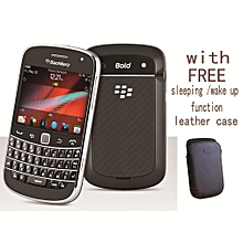 "Bold Touch 9900 8GB ROM  2.8"" Touchscreen  3G  WIFI  With Leather Case  Black"