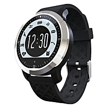 F69 Bluetooth Smart Watch Wrist Smartwatch For Android IOS Wearable Device Heart Rate Monitor Smartwatch  (Color:Black)