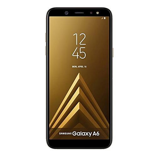"""Galaxy A6 (2018) 5.6""""- 32GB+3GB RAM - 16MP Camera - Dual SIM - 4G - Gold"""