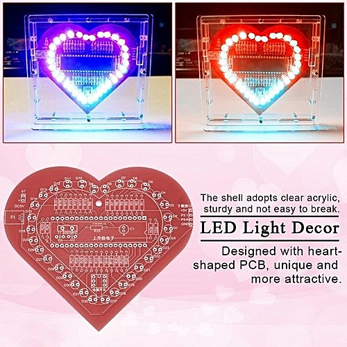Buy Generic Acrylic Shell Heart Shaped Microcontroller Board Diy Led