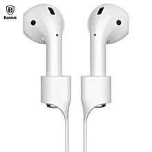 Baseus Earphone Strap Magnetic Adsorption Anti-lost Wire Rope Connector Silicone Accessory for AirPods WHITE GREY
