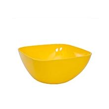 Round Edge Large Salad Bowl - Yellow