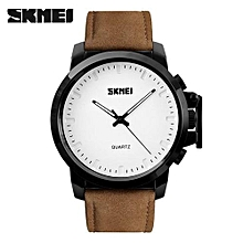 men quartz watches skemi brand fashion casual rubber watches big dial sport wristwatches gift leather clock 30m waterproof