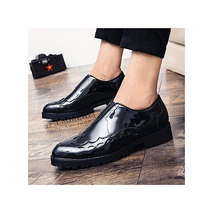 Men S Dress Shoes Round Toe Slip On Comfortable Office Oxford Formal Male For Genuine