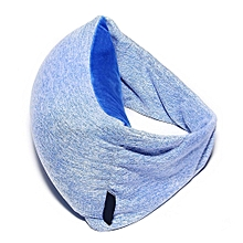 Travel Pillow Eye Mask, Portable Comfortable Neck, Head, Chin Support Rest Cushion