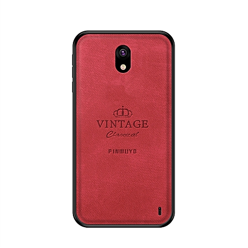 the latest 0deed 86b9f PINWUYO Shockproof Waterproof Full Coverage PC + TPU + Skin Protective Case  for Nokia 1 Plus (Red)