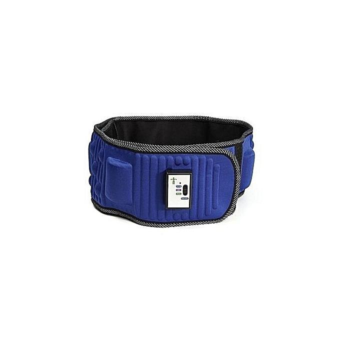 Slimming Belt X5 Times Electric Vibration Massage Machine Lose Weight Burning Fat Heating Fitness S Shape Body Figure Waist Trainer Blue