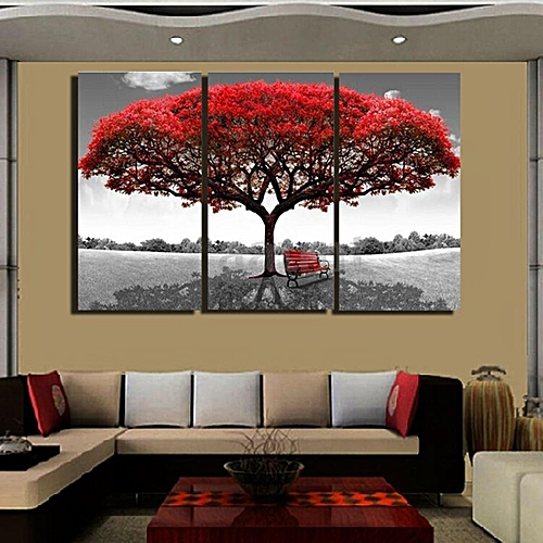 Generic Large Red Tree Home Wall Decor