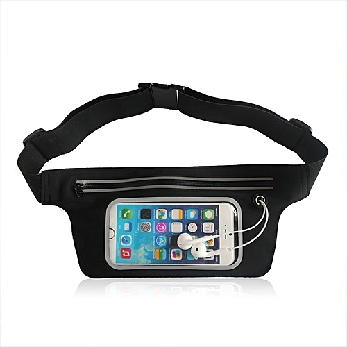 3eb151bc57a6 Waist bag, Waterproof Sports Waist Running Belt Pouch Compatible with under  6.0 Inch Mobile Phone Touch Waist Packs - Black