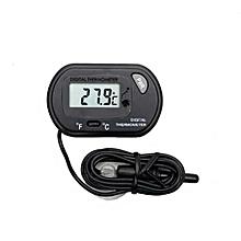Fish Aquarium Tank Thermometer Temperature Display Tool - Black